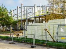 New indoor tennis hall construction in Liepaja, Latvia stock photo