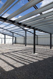 New industrial building. Interior of new industrial building under construction Stock Photo