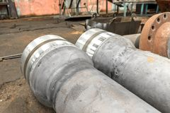 New industrial pipeline closeup photo Stock Photo