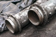 New industrial pipeline closeup photo Royalty Free Stock Photos