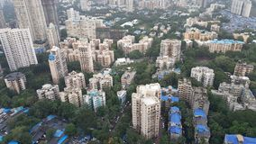 New infrastructure developing suburbs of Mumbai. Mumbai is financial capital of India. New tall high rise apartment buildings are developing in far suburbs in Stock Photo