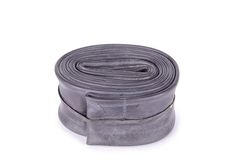 New inner tube for mountain bike isolated Royalty Free Stock Image
