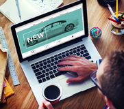 New Innovation Technology Car Homepage Concept Royalty Free Stock Images