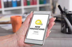 New innovations concept on a smartphone Stock Images