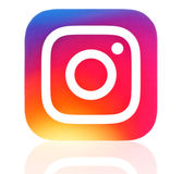 New instagram icon printed on paper Royalty Free Stock Photography