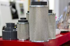 New intake gas and  air and oil suction filter elements for industrial.  stock images