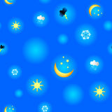 Pattern with weather Royalty Free Stock Photography