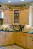 New Interior Kitchen. Vertical View of a New Interior Kitchen Stock Photo