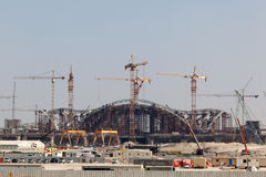 New International Airport in Abu Dhabi Royalty Free Stock Photography