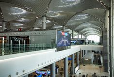 Entrance  International Airport in Istanbul stock photography