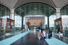 Entrance  International Airport in Istanbul royalty free stock image