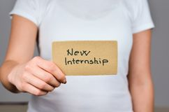 New  Internship Opportunities stock images