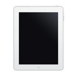 The new ipad. White on white background Stock Photo