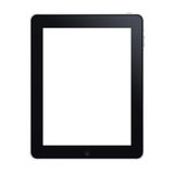 The new ipad. Black on white background Royalty Free Stock Photos