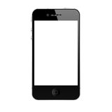 The new iphone 4s. Iphone 4s black on white background Stock Image