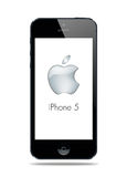 New iPhone 5. New Apple iPhone 5 arrives September 12 vector illustration