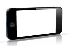 New iPhone 5. IPhone 5 with blank screen on white background Stock Photos