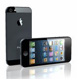 New iPhone 5. New Apple iPhone 5 was released for sale by Apple Inc Royalty Free Stock Photos