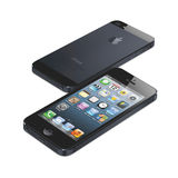 New IPhone 5 (front and back) Stock Photo