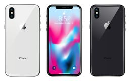 New iPhone X. WARSAW, POLAND - SEPTEMBER 12, 2017: New iPhone X is a smartphone developed by Apple Inc. Apple releases the new iPhone X. Vector illustration vector illustration