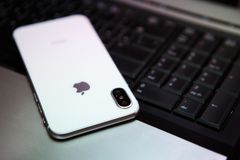 New Iphone X in white color Stock Image