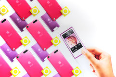New ipod nana, ipod touch and shuffle Stock Photo