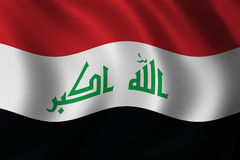 New Iraqi flag Stock Photo
