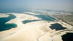 New island creation near Dubai city Royalty Free Stock Images