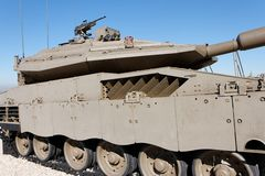 New Israeli Merkava  tank in museum Stock Image