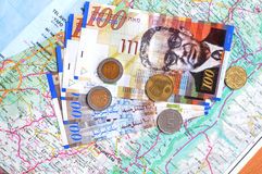 New Israeli shekels currency Royalty Free Stock Photo