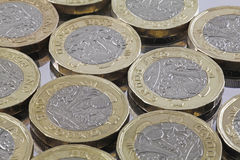 New issue one pound Sterling bi colour coins Stock Photo
