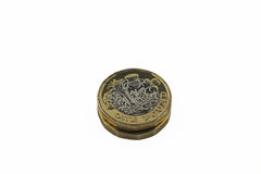 New issue one pound Sterling bi colour coins Royalty Free Stock Photography