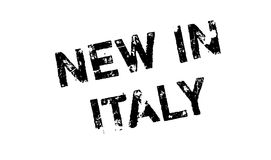 New In Italy rubber stamp Stock Photos