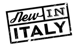 New In Italy rubber stamp Stock Image