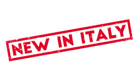 New In Italy rubber stamp Stock Photo