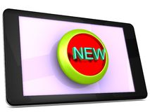 New item Icon on a Tablet Stock Photography