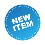 New item sticker. Label - editable vector illustration on isolated white background royalty free illustration