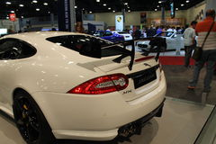 New jag sports car rear Stock Photos
