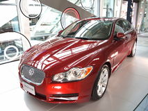 New Jaguar Luxury Car on Display Royalty Free Stock Photo
