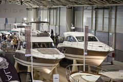 New Jeanneau Prestige Boats At Big Blue Sea Expo Royalty Free Stock Photo