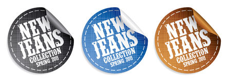 New jeans collection stickers Stock Image