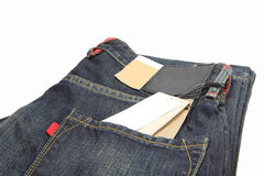 New jeans with label Royalty Free Stock Images