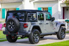 The new 2018 Jeep Wrangler Rubison complete redesign Stock Photo