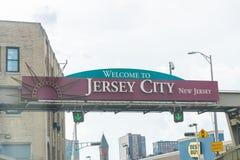 New Jersey acoge con satisfacción el paisaje los E.E.U.U. de las vacaciones del estado de los E.E.U.U. firma viaje fotografía de archivo libre de regalías