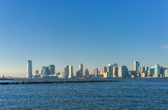 New Jersey Across the Hudson River. View from New York Side. Stock Image