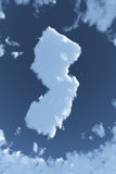 New Jersey in Clouds. The shape of the state of New Jersey in clouds Stock Images