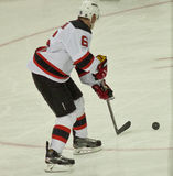New Jersey Devils with the Puck Royalty Free Stock Photos