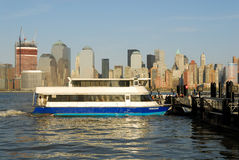 New Jersey ferry on Hudson River Royalty Free Stock Image
