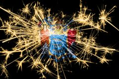 New Jersey fireworks sparkling flag. New Year 2019 and Christmas party concept. New Jersey fireworks sparkling flag. New Year 2019 and Christmas party concept stock illustration