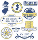 New Jersey generic stamps and signs. New Jersey. Set of generic stamps and signs Royalty Free Stock Image
